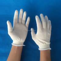 10 gauge 20g/pair white poly cotton string knit hand gloves
