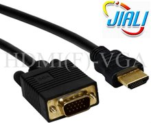 HDMI to VGA Cable for Computer 15Pin Male to HDMI(F)