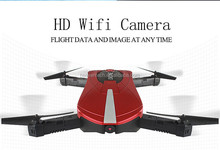 JY018 Elfie Drone New Foldable Rc Drone With 720p Wifi Wide Angle Fpv Camera Flight Track Mode G-sensor Selfie Drone