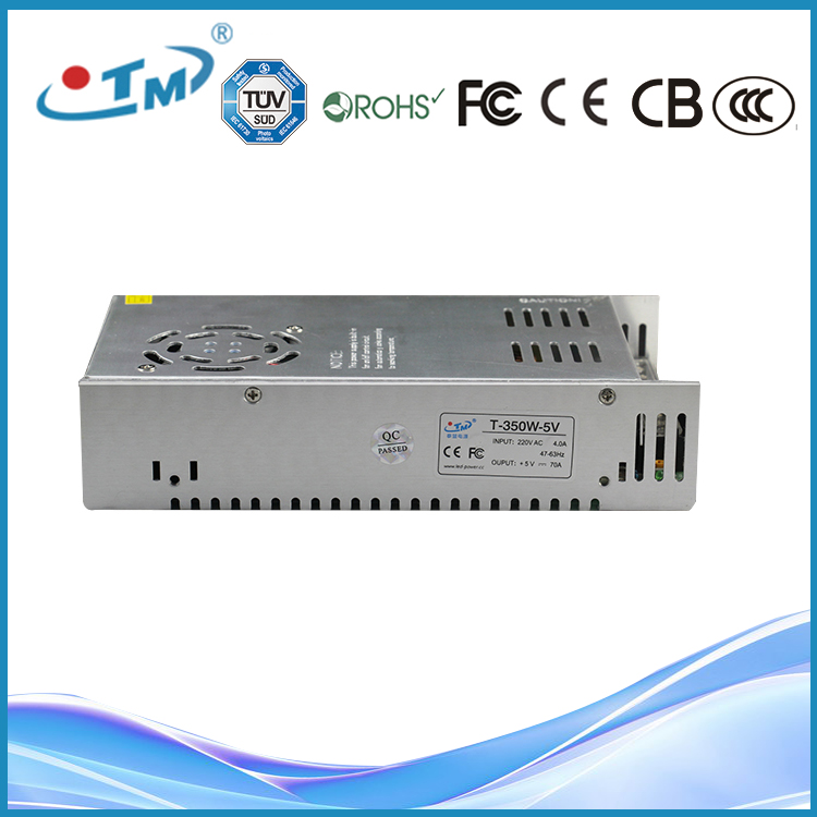 350W 70A 60A 40A Constant Voltage 5V AC To DC aluminium Switching Power Supply For LED DISPLAY With CE RoHS FCC