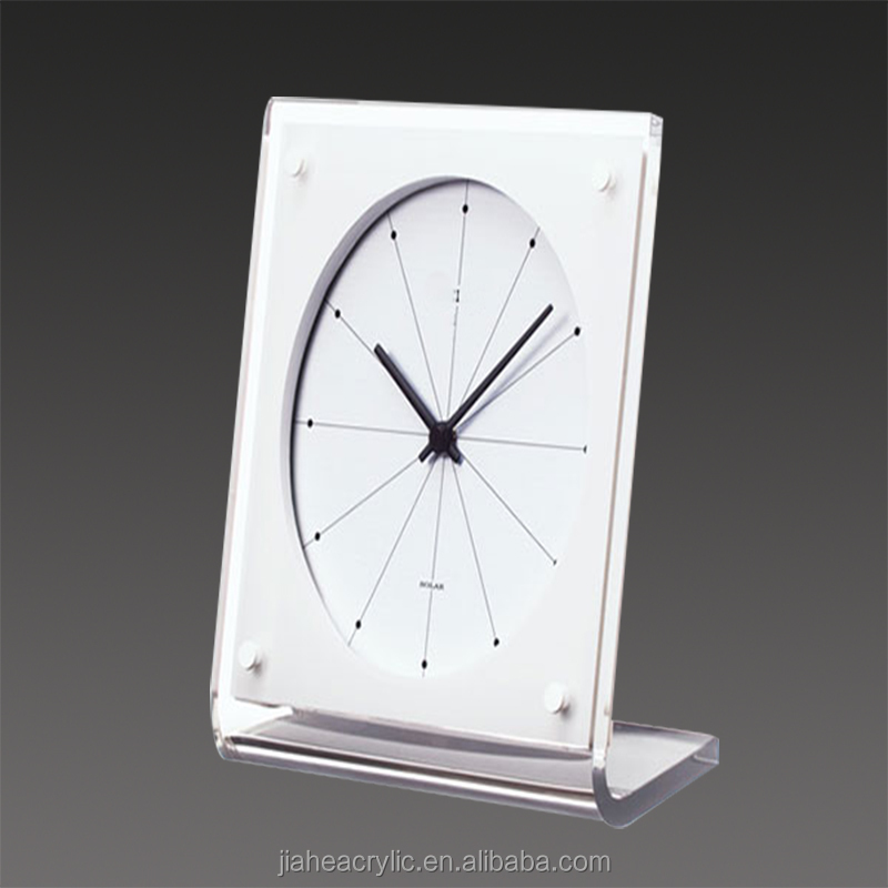 new design pretty acrylic table clock with good design,good quality