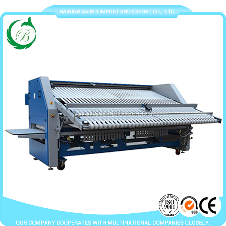 2017 hot sale commercial bed sheets hospital towel folding machine