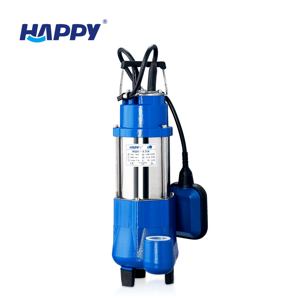Happy brand 220V single phase electric 0.5hp submersible water pump