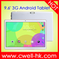 Cheap 3g tablet 9.6 Inch MTK6582 Quad Core 1GB RAM 16GB ROM WiFi GPS