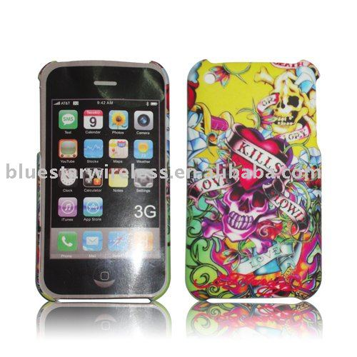 rubber skin design case for iphone 3g(cell phone crystal design case is hot sell all the time and stand firmly in various areas)