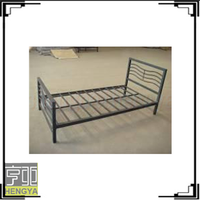 The most strong military cheap metal single beds