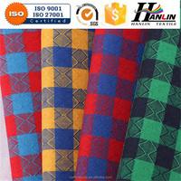 100% polyester yard dyed shirting / polycotton printed shirting fabrics / red shirt dress fabric