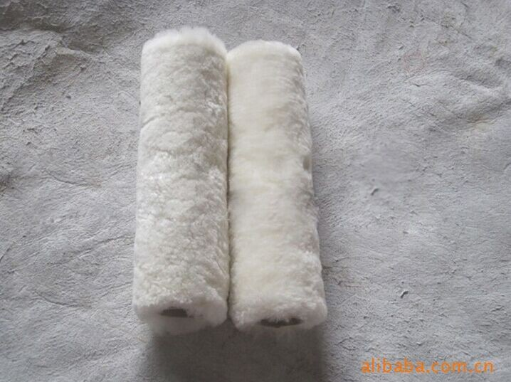 High-density wool painting oil rollers brush From paint roller manufacturer sheep skin