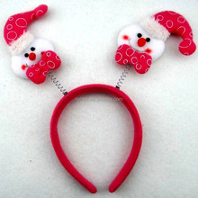 2015Holiday supplies Snow head hoop for Christmas dcoration