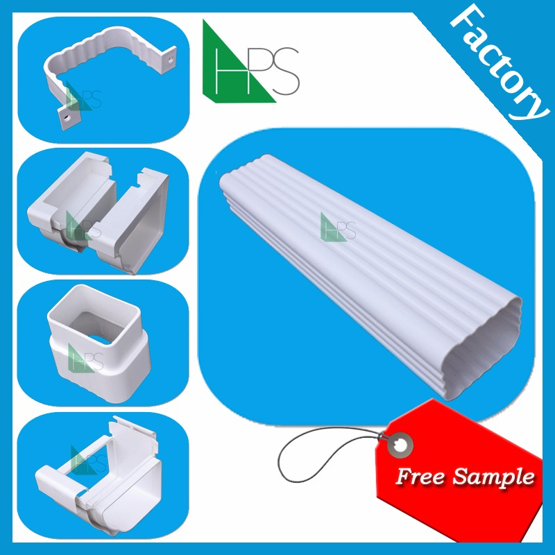 Rain water pipe/pvc plastic gutter/water collector double layer pvc gutter
