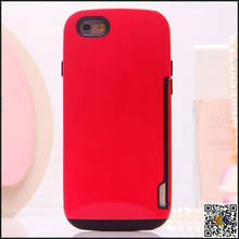 Creative Design TPU Phone Case With Credit Card Slot,Soft Wallet Cellphone Shell For IPhone6