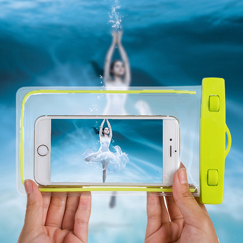 Night light swimming neck hanging phone waterproof arm bag pvc mobile phone case