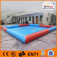 portable outdoor rubber inflatable swimming pool
