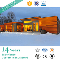 China prefab movable prefab wooden house villa with good house performance for North EU and Canada