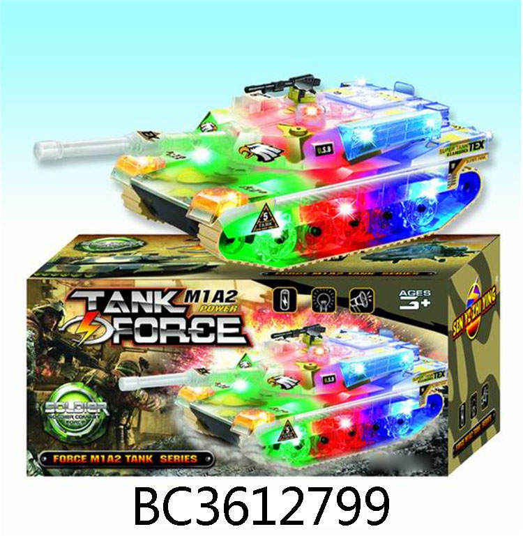 Battery Operated tank toys with colorful flashing light and music for sale BC3612799
