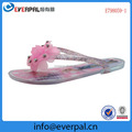 Jelly Flip Flops Flat With Glitter