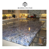 Cheap price customized brazil polished blue bahia granite countertop for kitchen