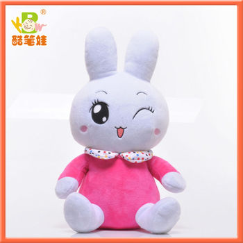 2016 nes design musical toy rabbit plush toy kids gift