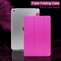 Wholesale Coloful Combo PU PC Leather Case Triple Folding Stand Covered for Lenovo A5500