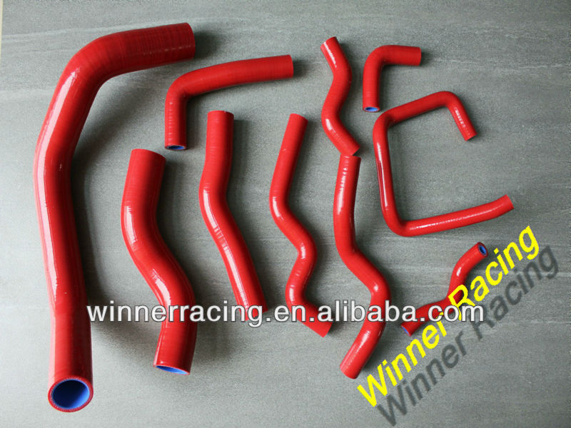 Red Radiator silicone hose for Nissan Silvia/180SX RPS13,PS13,S13 S14 SR20