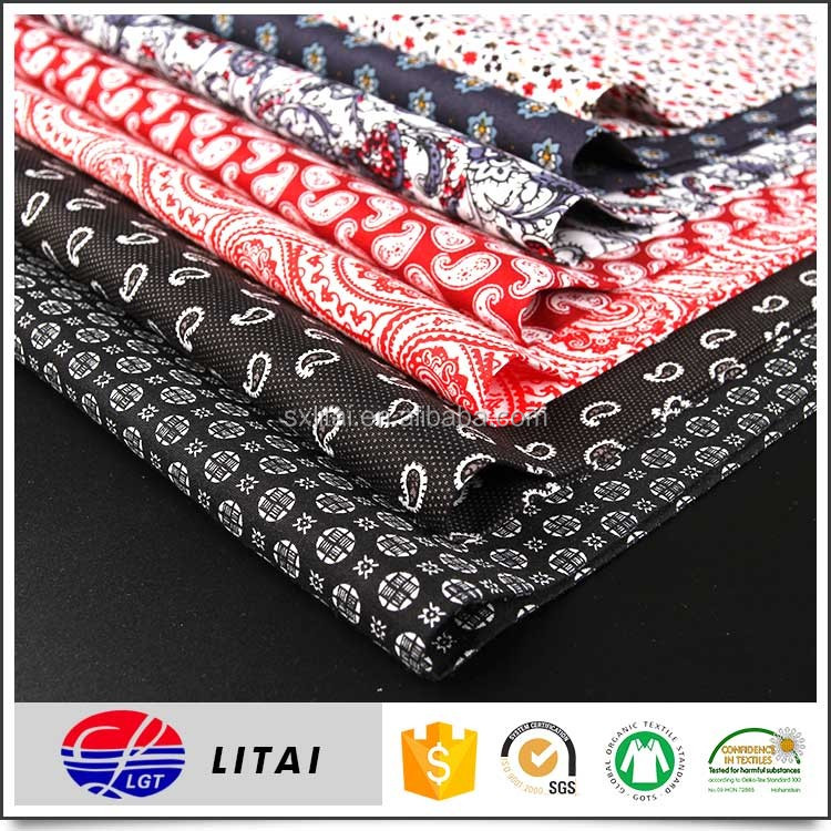 cheap price, good quality printing cotton fabric for shirt in stock