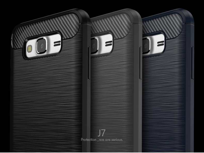 Original IPAKY Brushed graphite TPU Cover Case for samsung j7 2016