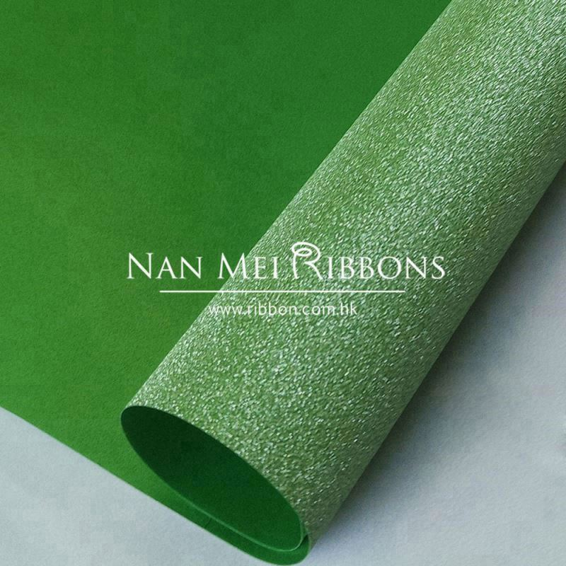 Custom high quality turquoise green embossed packing used glitter sparking film