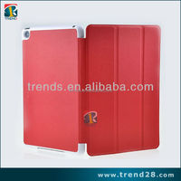 high quality stand folding leather flip case cover for ipad mini