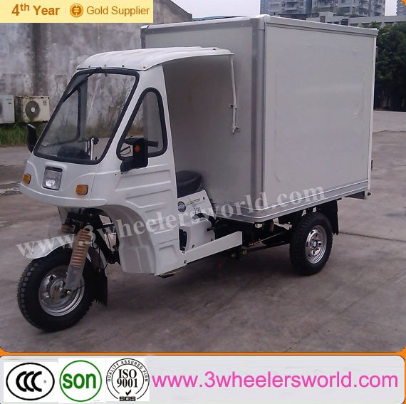 chinese 200cc motorized ice cream cargo tricycle/motor tricycle for cargo/used steel cargo containers for sale