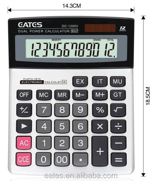 12 digits extra large LCD display hot sale calculator with big discount