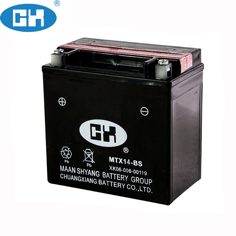 Rechargeable lead acid Motorcycle 12v Battery Passed CE/UL/ISO