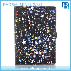 Sky Star Color Print Drawing Flip Stand Pad Mini 2 Cover for iPad Air Case