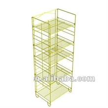 5 Tier Folding Metal Wire Display Stand with Signholder RMH