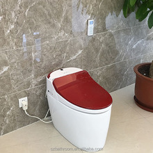 red Intelligent automatic smart ceramic toilet bowl Water Closet/Female Toilet