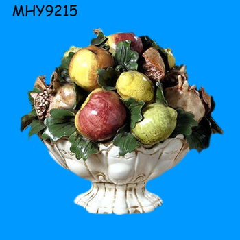 Ceramic Porcelain Fruit Basket Centerpiece For Decoration
