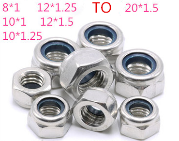 304 stainless steel fine tooth nylon lock <strong>nut</strong> self-locking <strong>nut</strong> M8M10M12M14M16M18M20