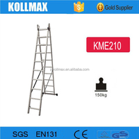 2 Section Aluminum Extension Ladder 2X10