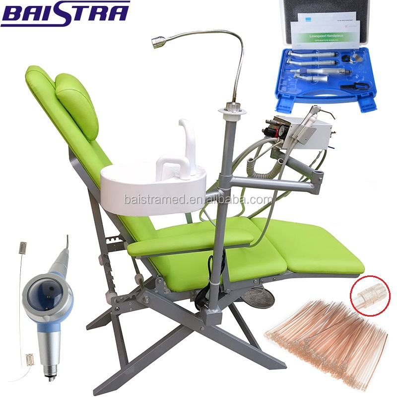 Top quality folded portable dental chair/mobile dental unit