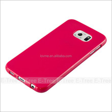 Jelly Glossy Silicon Tpu Cover Case For Samsung Galaxy S6 Phone case
