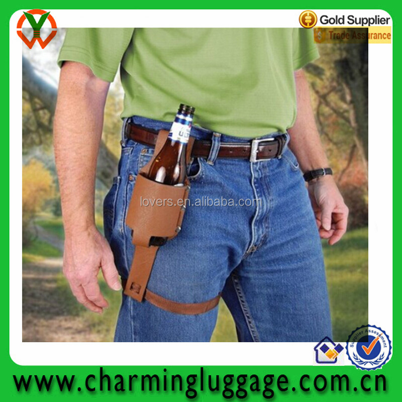 Personalized Custom Leather Beer Holster, Beer Accessory, Beer Belt