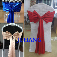 wedding decoraction wedding chair cover with bow tie sashes