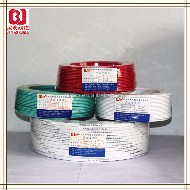 PVC insulation non-sheathed single-core copper conductor wire stripper electric,underground electrical wire prices
