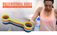 2016 New Colorful Food Grade Bpa Free Smart Silicone Bottle Handle