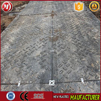 Plant Offers uhmw pe sheet for lawn protection mats temporary Crane groud plastic stripe mats