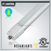 FA8 single pin SMD2835 120LM/W THD<15% external and internal driver price led tube light t8 28w