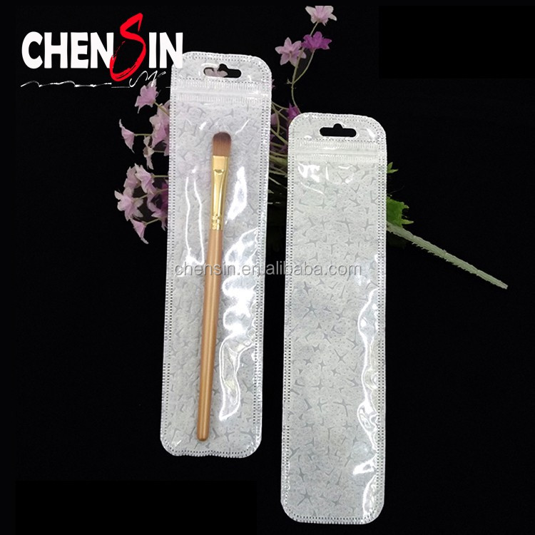 4.5*19cm plastic bags package USB cables Clear Zip Lock Top Bags long narrow ploy bags