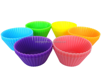 2015 new product 12 pack Reusable Silicone Baking Cups / Cupcake Liners for venice kitchen silicone baking cups