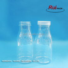 Hot sell empty clear milk bottle for shampoo,16oz Rustic Plastic Mini Milk Bottles