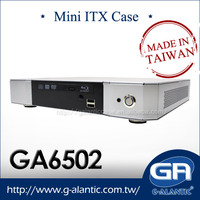 GA6502 - Fanless Thin Mini ITX Desktop Computer Case with heat pipe for high CPU TDP for HTPC and Media Center