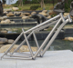 Titanium road bike frame- the latest titanium off-road cyclist with tapered headtube and disc brake